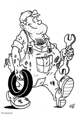 How to spot a bad mechanic harbor insurance in st for Mechanic coloring pages